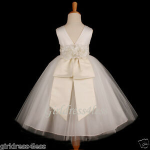 Ivory Princess Bridal Picture Ball Gown Flower Girl Dress