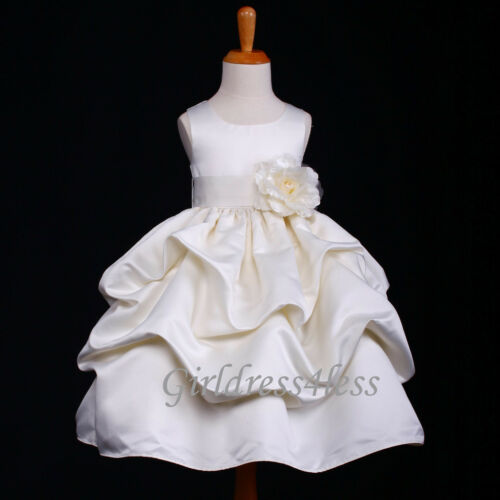 IVORY WEDDING PRINCESS PICK UP FLOWER GIRL DRESS 6M 12M 18M 2 4 6 8 9 10 11 12 in Clothing, Shoes & Accessories, Wedding & Formal Occasion, Girls' Formal Occasion | eBay