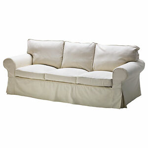 Ikea Ektorp 3 seat removable sofa cover Svanby Beige Slipcover New NIP