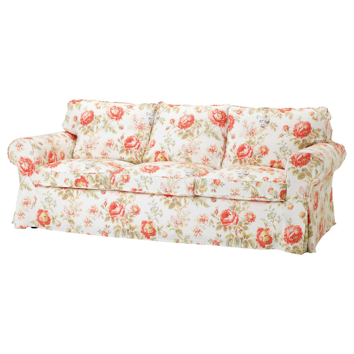 IKEA Ektorp 3 Seat Sofa Removable Cover Byvik Multicolor
