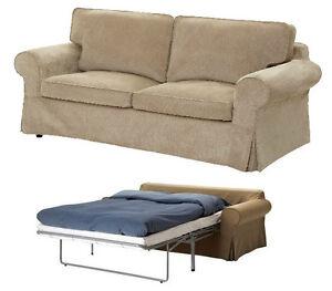 IKEA Ektorp Sofabed Cover 2 Seat Sofa Bed Sleeper Slipcover Vellinge Beige New on PopScreen