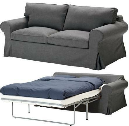Ikea Ektorp Sofabed Cover Removable 2 Seat Sofa Bed Slipcover Svanby