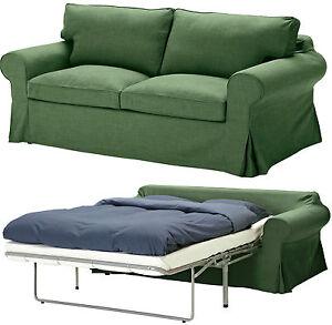 Ikea Ektorp sleeper sofa bed slipcover 2 seat sofabed cover Svanby Green New NIP