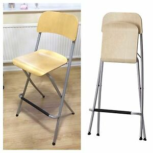Ikea Franklin Bar Stool With Backrest And Footrest Birch