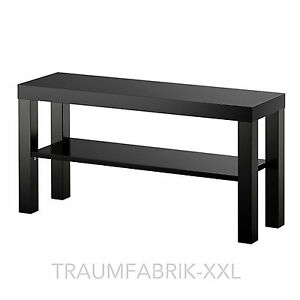 ikea fernsehtisch schwarz tv regal wohnzimmerregal 90 x 26cm wohnzimmer lack neu ebay. Black Bedroom Furniture Sets. Home Design Ideas