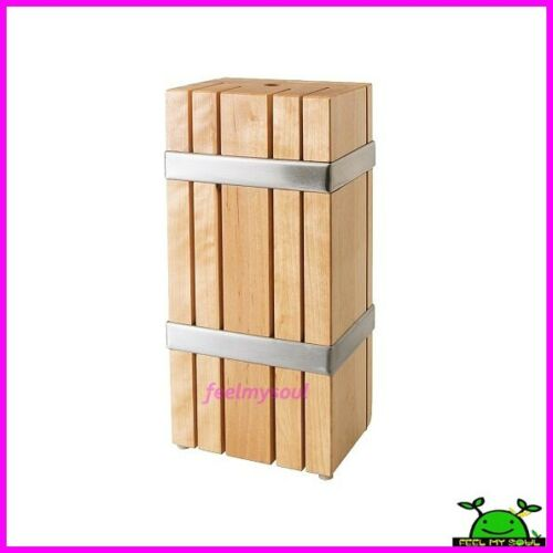 Kitchen Knife Storage Case: Ikea Kitchen Knife Block Holder Rack Box Wood New