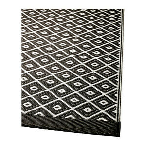 details about ikea rug flatwoven solrod black n white new
