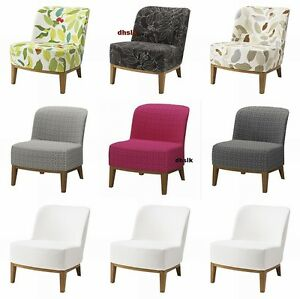 ikea stockholm chair slipcover cover figur blad rostanga multi black beige white ebay. Black Bedroom Furniture Sets. Home Design Ideas
