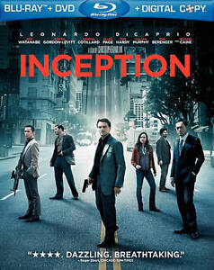 Inception (Blu-ray/DVD, 2010, 2-Disc Set...