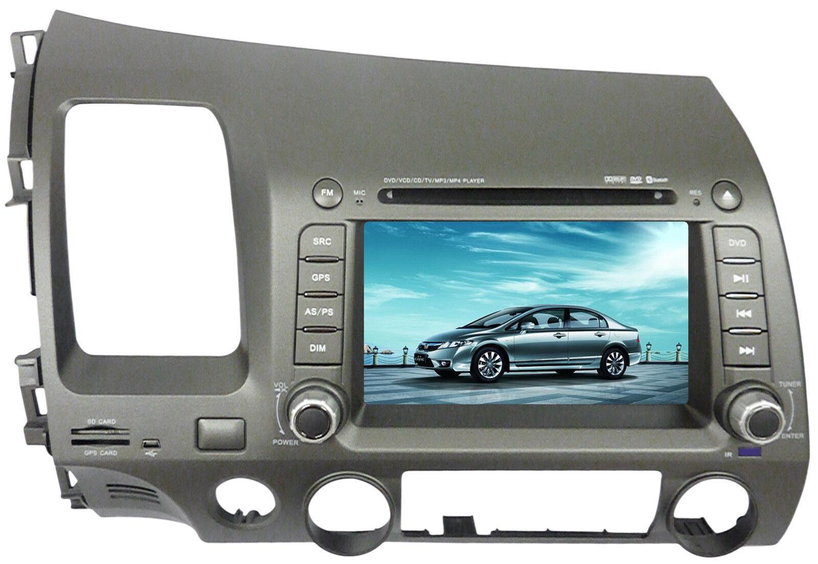 7 in dash car dvd stereo gps navigation tv honda civic. Black Bedroom Furniture Sets. Home Design Ideas
