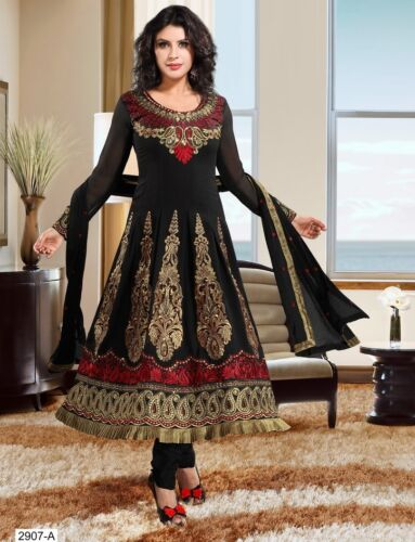 Indian Bollywood Ethnic Designer Black Anarkali with Full Length Salwar ECL in Clothing, Shoes & Accessories, Cultural & Ethnic Clothing, India & Pakistan | eBay