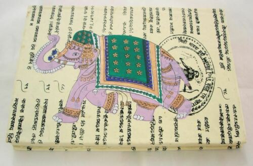 Indian Elephant Handmade Paper Journal Blank Travel Diary Notebook Sketch Book in Books, Accessories, Blank Diaries & Journals | eBay