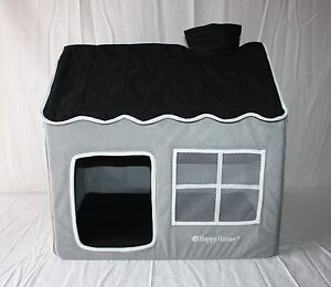 indoor hundeh tte hundehaus katzenh tte happy house stoff grau 62x42x59 cm s ebay. Black Bedroom Furniture Sets. Home Design Ideas