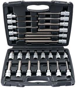 Innen-Vielzahn-Nuesse-Werkzeug-Set-M5-M16-26-tlg-Steckschluessel-Satz-Nuss-lang