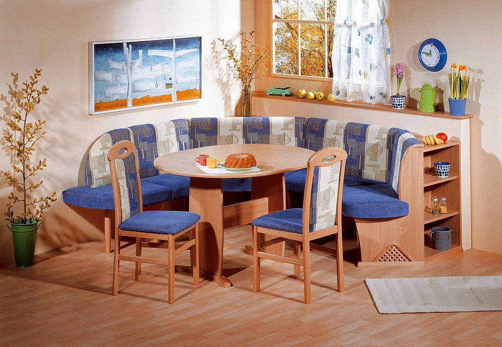 Modern Beech Wood Dining Set Kitchen Booth Breakfast Nook Corner Bench