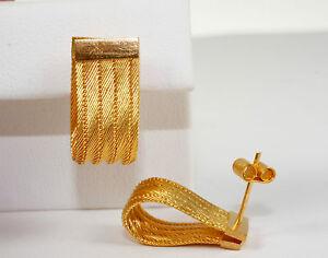 Interessante-Optik-Ohrringe-Gold-916-000-als-Stecker-gearbeitet-Gewicht-8-6