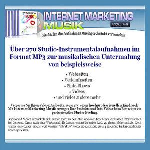 Internet Marketing Musik V1-5 - Sie dürfen die Stücke uneingeschränkt verwenden - Deutschland - Internet Marketing Musik V1-5 - Sie dürfen die Stücke uneingeschränkt verwenden - Deutschland