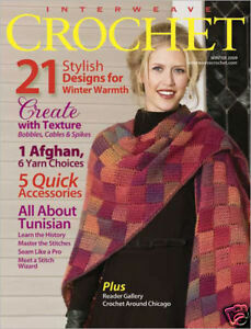 Crochet Magazines List : Details about Interweave Crochet magazine winter 2009: tunisian ruana