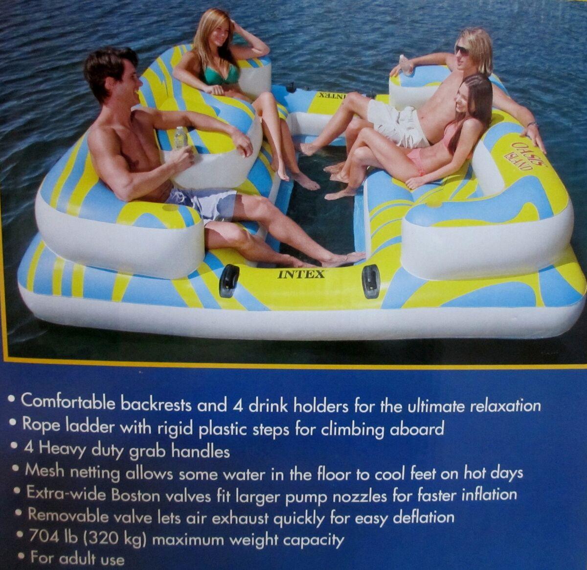 Water Floats And Tubes ~ Intex oasis huge lounge inflatable pool island tube raft