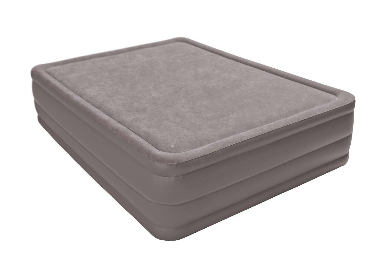 Intex Queen Pillow Rest Airbed Air Mattress Bed With Built
