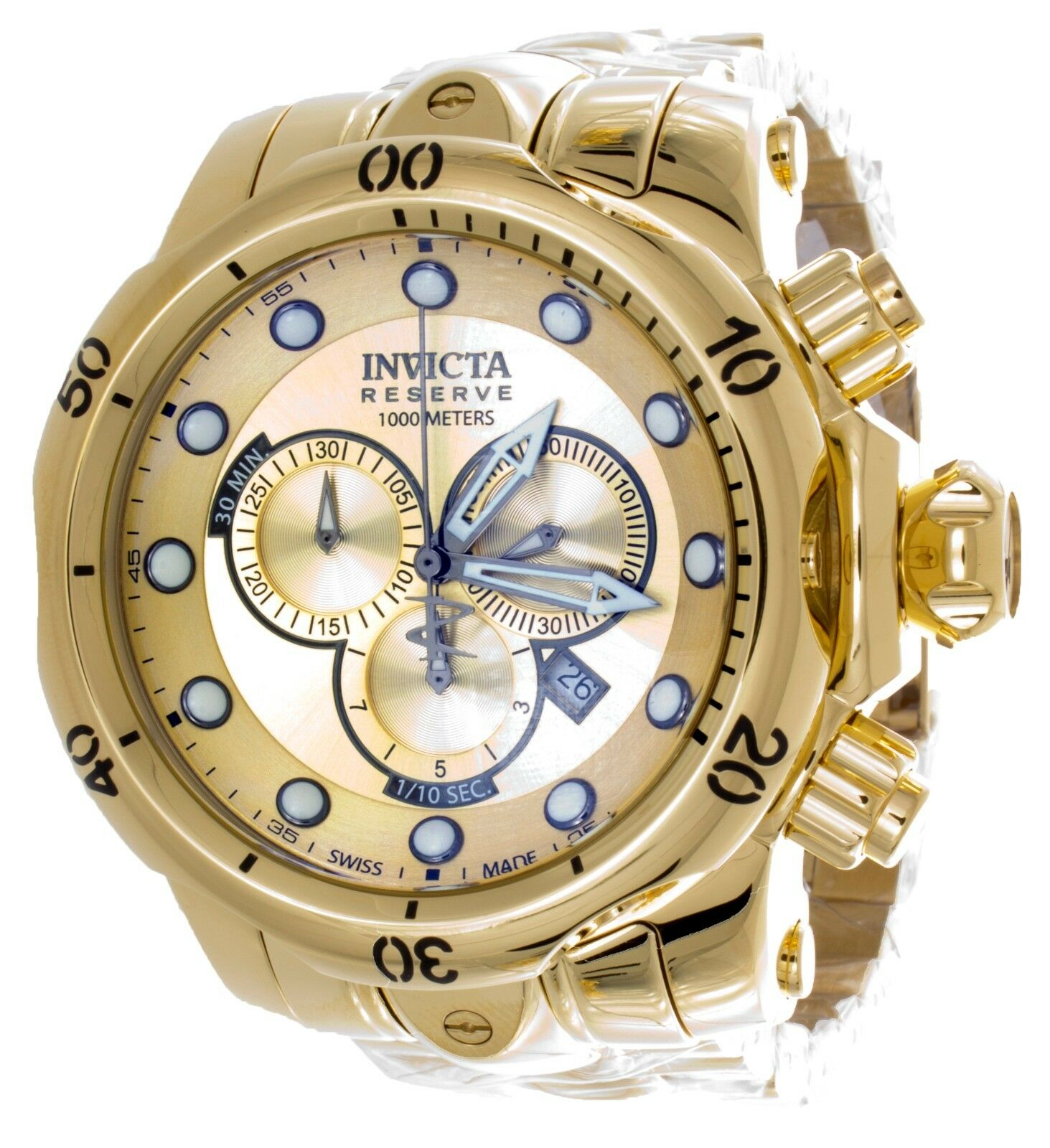invicta s 13886 venom gold plated stainless steel