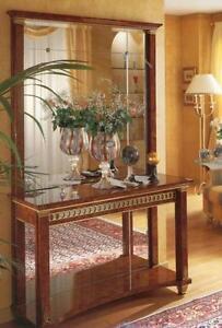 Ital luxus konsole mit spiegel arcade turri hochglanz lack wurzelholzoptik ebay - Arcade spiegel ...