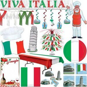 Italien Motto Party Dekoration Rot Weiss Gr N Italienische