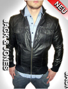 jack jones herren jacke lederjacke echt lederjacke jacket gr m. Black Bedroom Furniture Sets. Home Design Ideas