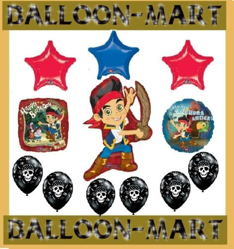 JAKE AND THE NEVER LAND PIRATES party supplies balloons kit BIRTHDAY Skulls SHIP in Home & Garden, Holidays, Cards & Party Supply, Party Supplies | eBay