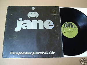 JANE-FIRE-WATER-EARTH-amp-AIR-LP-GREEN-LABEL