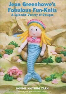 Details about JEAN GREENHOWE KNITTING TOY PATTERNS FABULOUS FUN-KNITS