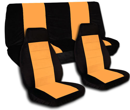 Jeep Wrangler Car Seat Covers Camo Blk Orange Fr Rear