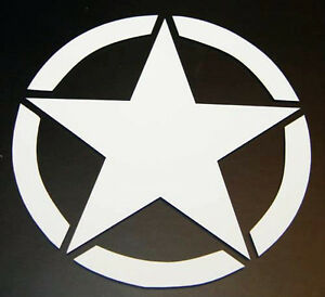 Jeep Willys Star 1941 Cj Wrangler 4x4 Us Army Decal