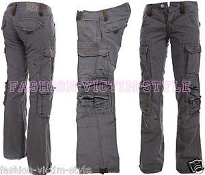 jet lag damen cargo hose bootcut jeans stoff top qualit t. Black Bedroom Furniture Sets. Home Design Ideas