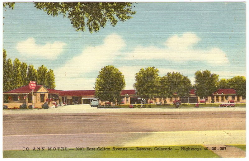 JO ANN MOTEL 1947 Advertising Postcard PC Denver CO | eBay