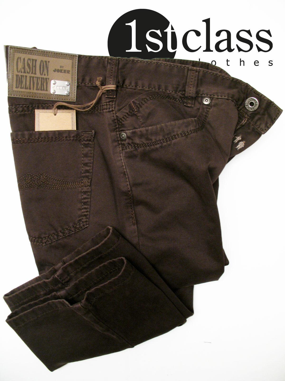 joker jeans freddy 3980 333 dunkelbraun new ebay. Black Bedroom Furniture Sets. Home Design Ideas