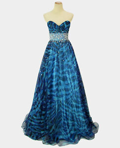 Prom Dress Stores on Jovani 4253 Blue  500 Prom Dress Evening Ball Gown Brand New Size 2