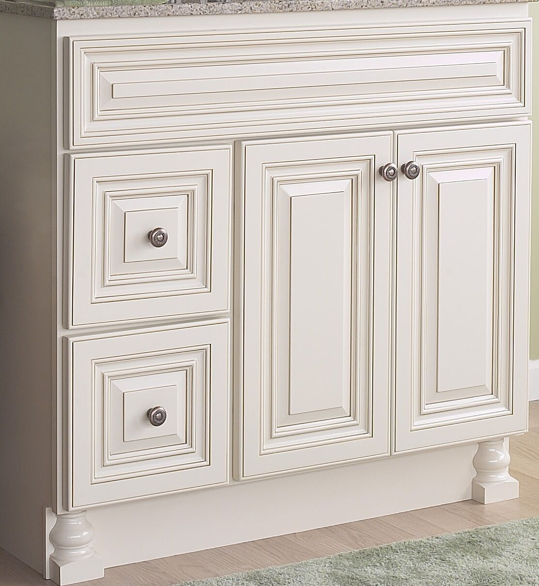 jsi wheaton bathroom vanity base solid wood 36 cream 2 doors 2 lh drawers ebay. Black Bedroom Furniture Sets. Home Design Ideas