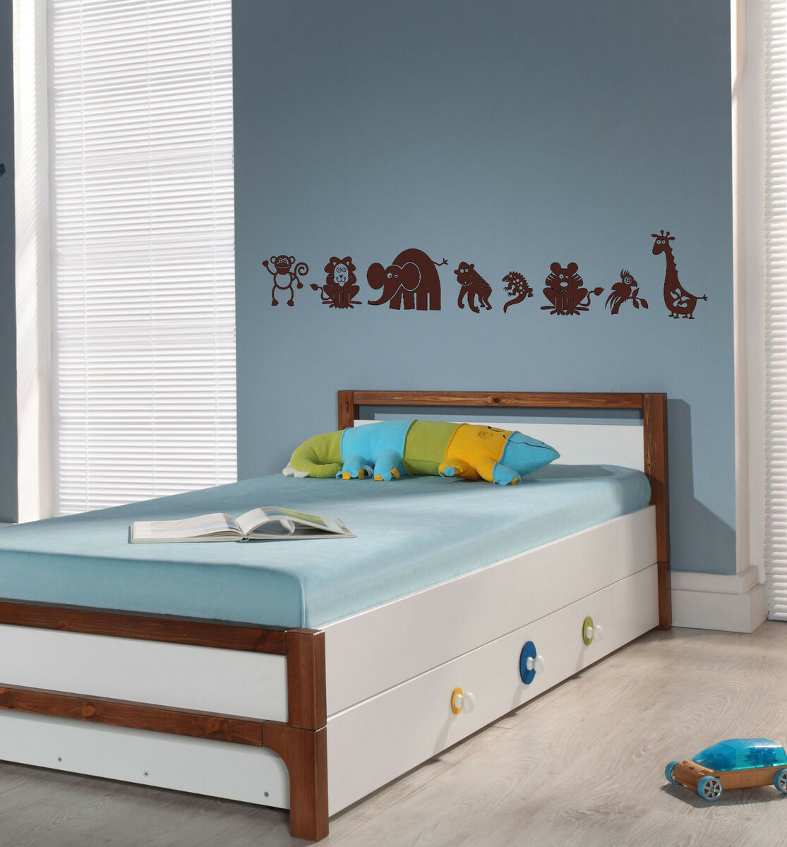 Jungle Animals Kids Room Wall Car Decal Sticker Safari Highest Quality