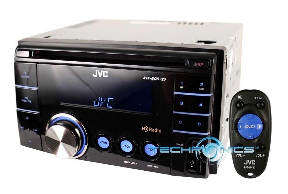 jvc car double din stereo with hd radio wma cd player receiver. Black Bedroom Furniture Sets. Home Design Ideas
