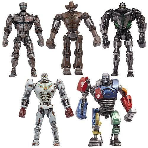 "Jakks Real Steel Movie 5"" Action Figure Metro Ambush Six Shooter Zeus Atom in Toys & Hobbies, Action Figures, TV, Movie & Video Games 