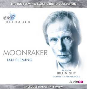 James-Bond-Moonraker-6CD-Audiobook-Read-By-Bill-Nighy-Not-Sealed