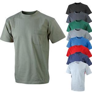 james nicholson herren kurzarm t shirt mit brusttasche s. Black Bedroom Furniture Sets. Home Design Ideas
