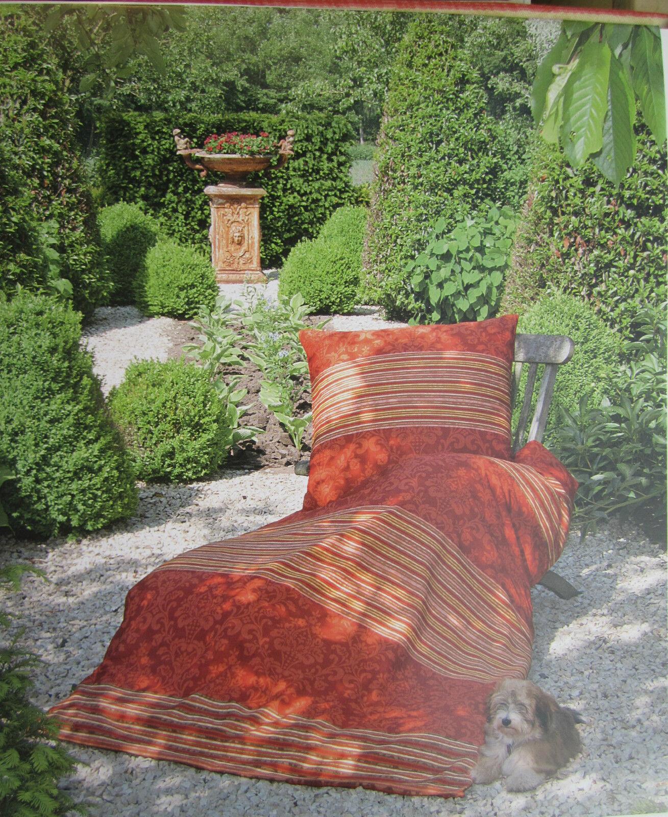 janine mako satin bettw sche 135x200 bettgarnitur streifen dessin gr n baumwolle. Black Bedroom Furniture Sets. Home Design Ideas