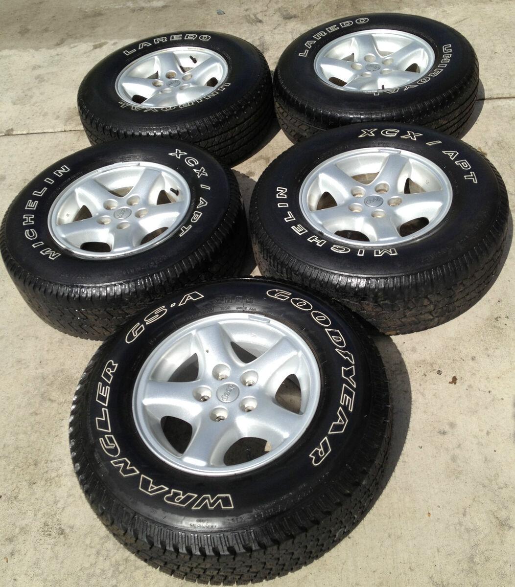 Jeep Wrangler YJ TJ LJ Cherokee XJ ZJ Factory Original Wheels Rims and Tires