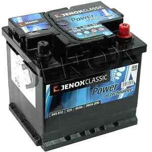 jenox 12v 45ah 360 a en starterbatterie autobatterie. Black Bedroom Furniture Sets. Home Design Ideas