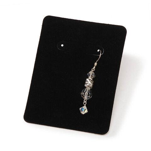 jewelry display card holders for earrings black velvet