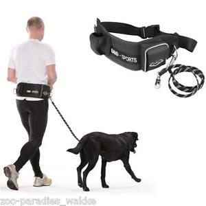 joggingleine f r gro e hunde hundeleine bauchgurt taschen active walker ebay. Black Bedroom Furniture Sets. Home Design Ideas