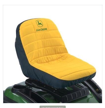 """John Deere Lawn Mower Gator Seat Cover Large 18"""" Seat"""