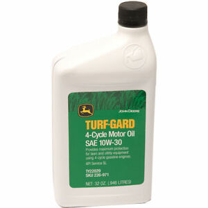 John deere sae 10w 30 motor oil for lawn and garden for Best motor oil for lawn mowers